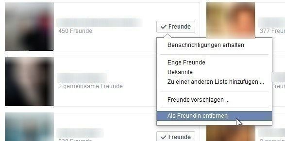 facebook freunde entfernen